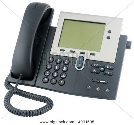 Office Ip Telephone Above View