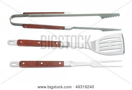 Grill Utensils isolated on white