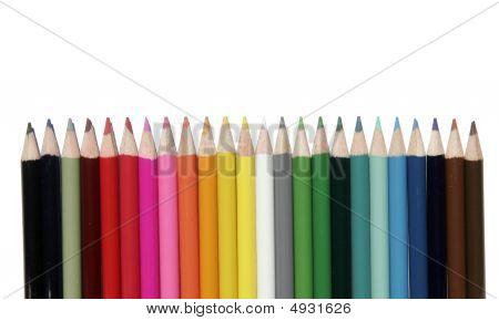 Set Of Coloured Pencils