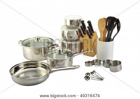 Varios utensilios de cocina
