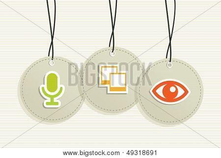 Multimedia Hang Tags