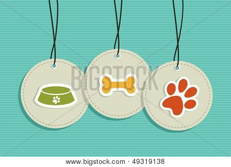 Hanging Pet Badges Set.