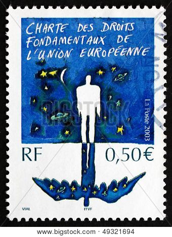 Postage Stamp France 2003 Charter Of Fundamental Rights