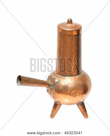 Antique Copper Coffeepot