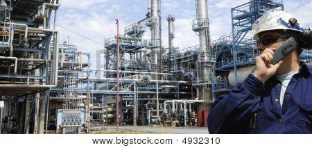 Engineer Inside Refinery