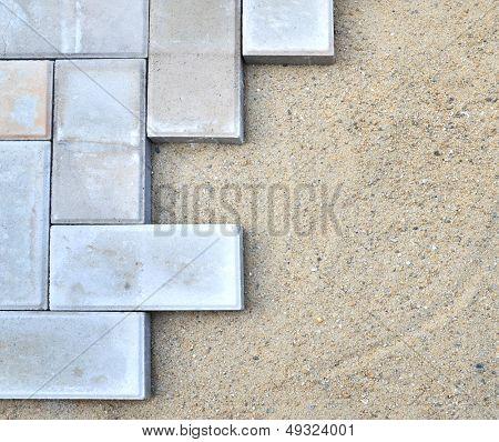 bricks installation