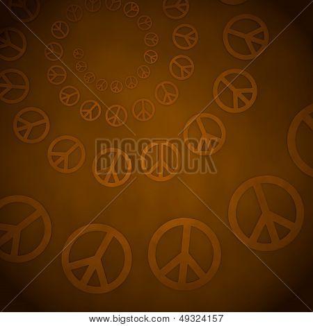 3D Render Of A Harmful Peace Label  On Vintage Background