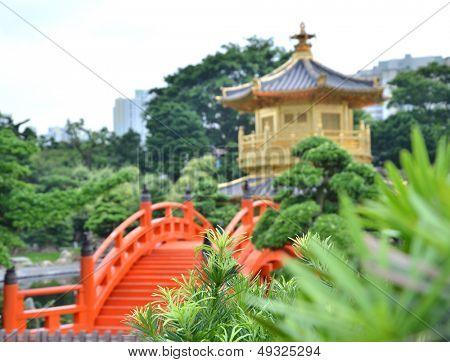 The oriental gold pavilion of absolute perfection in Nan Lian Garden, Chi Lin Nunnery, Hong Kong
