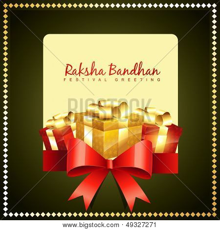 vector rakshabandhan greeting background design