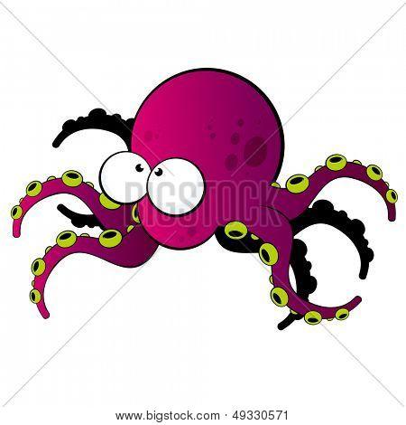 funny cartoon octopus