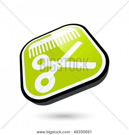 modern barber symbol