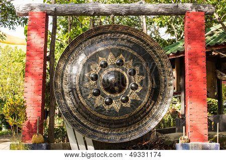 Big Gong In Wat Mokkanlan , Chomthong Chiangmai Thailand