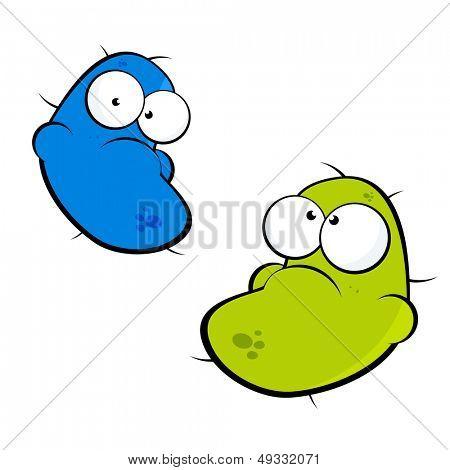 病菌卡通矢量图图片图片怪物矢量图卡通设计