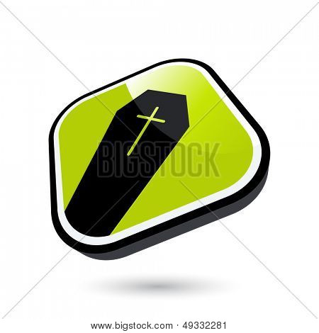modern funeral sign