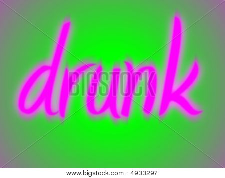 Blurry Drunk Pink On Green