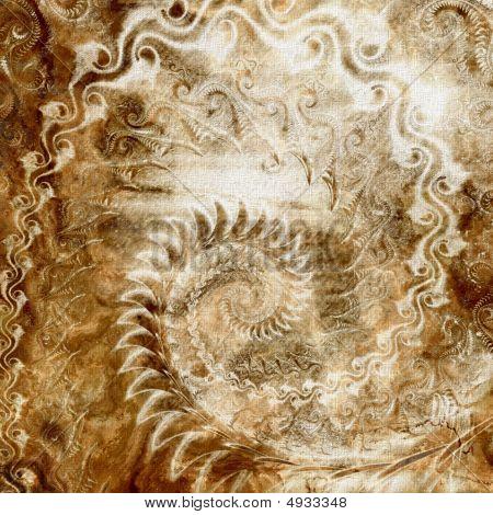 Worn Spiral Abstract