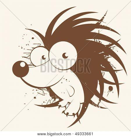 vintage hedgehog cartoon