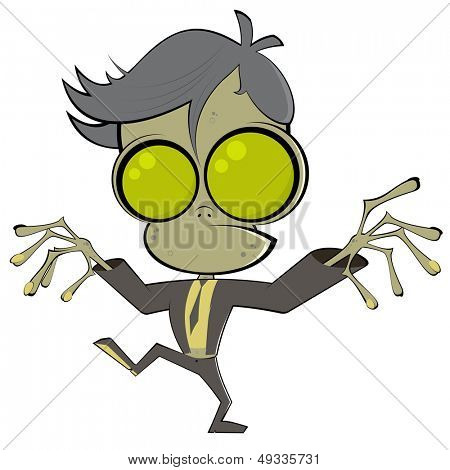 funny cartoon zombie