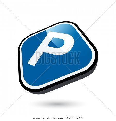 modern parking sign