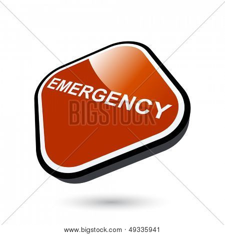 modern emergency sign