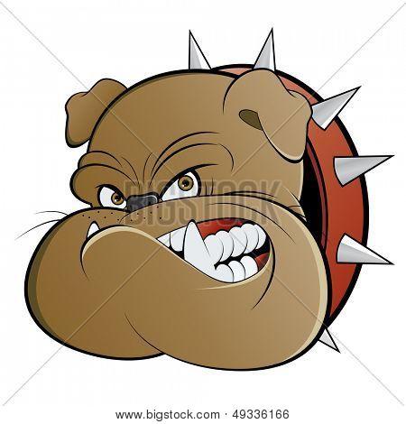 perro guardián enojado de dibujos animados