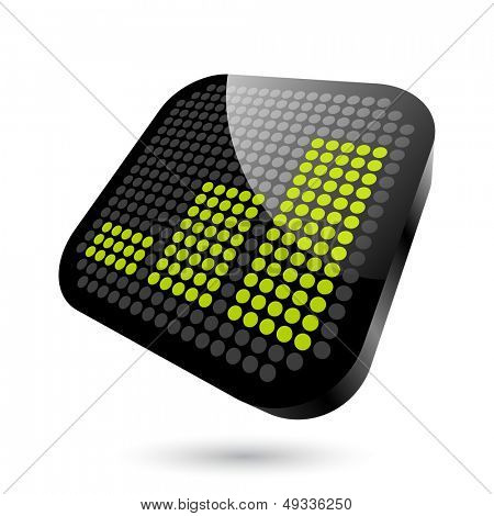 modern graph sign