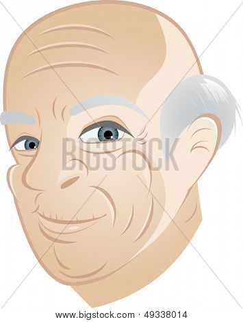 happy grandpa cartoon