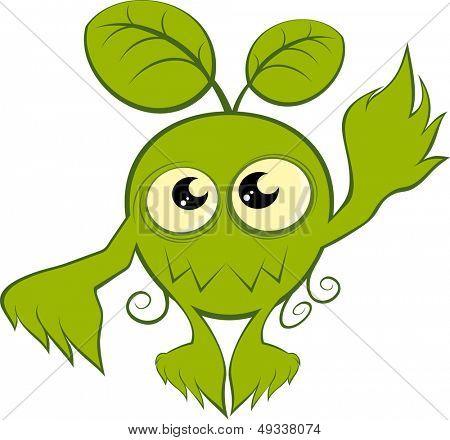 funny cartoon plant monster