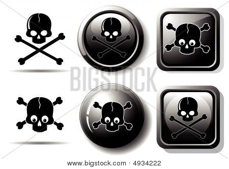 Black Icons With Skull