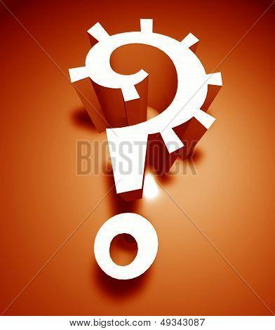 3D Question Mark