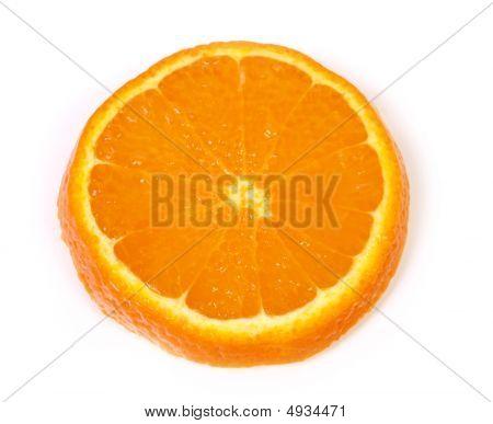 Ideal Orange Piece Isolated On White