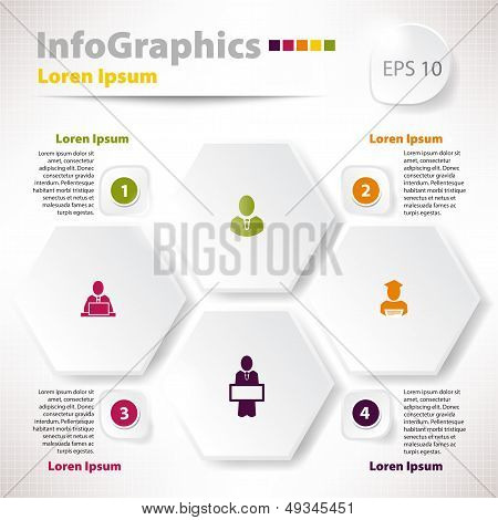 Modern Vector Elements For Infographics With Rhombus For Business Design