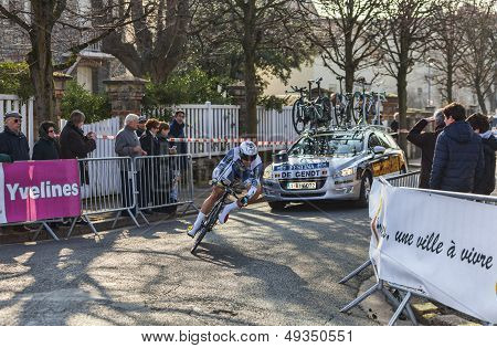 The Cyclist De Gendt Thomas- Paris Nice 2013 Prologue In Houilles