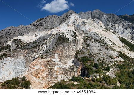 Carrara Mountain And Marble Stone Pit, Tuscany, Italy