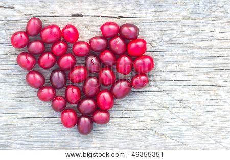 Heart With Cornelian Cherry