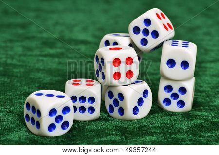 Dice On A Baize