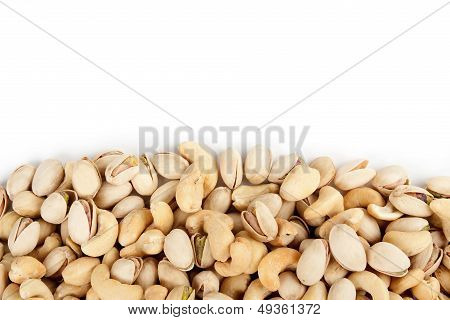 Cashews And Pistachios Border
