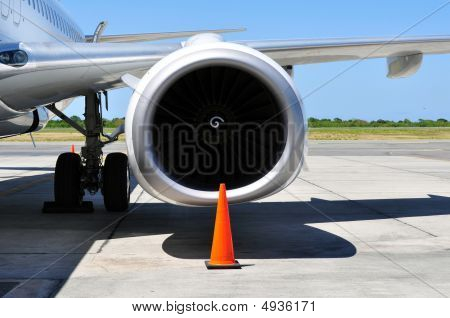 Air Transportation: Jet Engine Detail