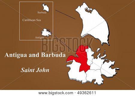 Antigua And Barbuda - Saint John Highlighted