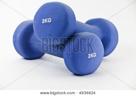 Pair Of Blue Barbells