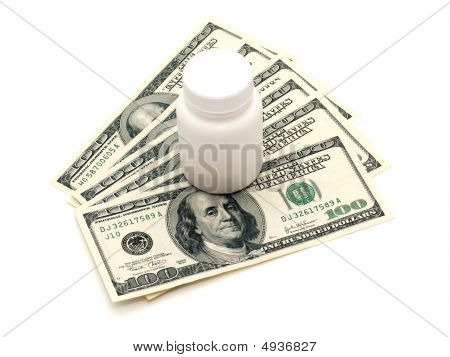 Vial And Money