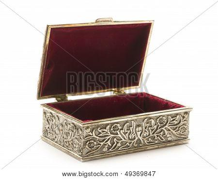 Open Silver Coffer