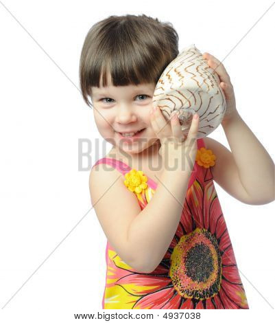 Little Girl With Seashell