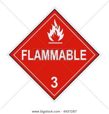 brennbare Warnungs-Etikett