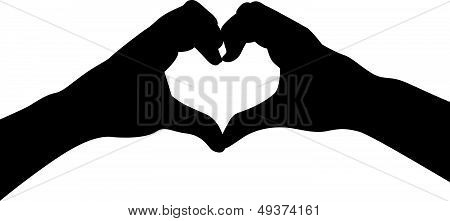 love heart hands