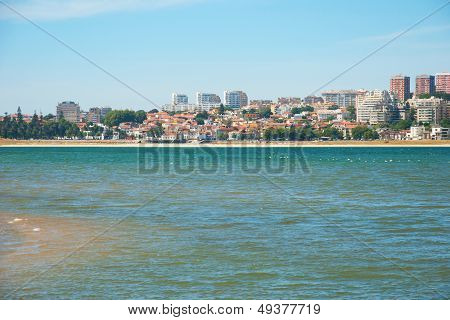 Sandy Beach Of Natural Reserve In Porto, Portugal