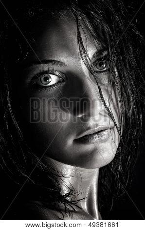 wild woman portrait