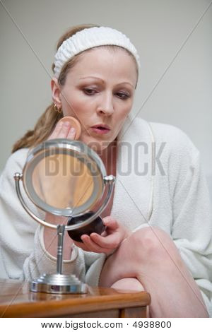 Woman Getting Ready