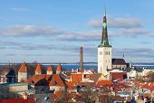 stock photo of olaf  - Cityscape panorama of Old Tallinn Estonia - JPG