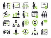 stock photo of recruitment  - Human resource icons - JPG